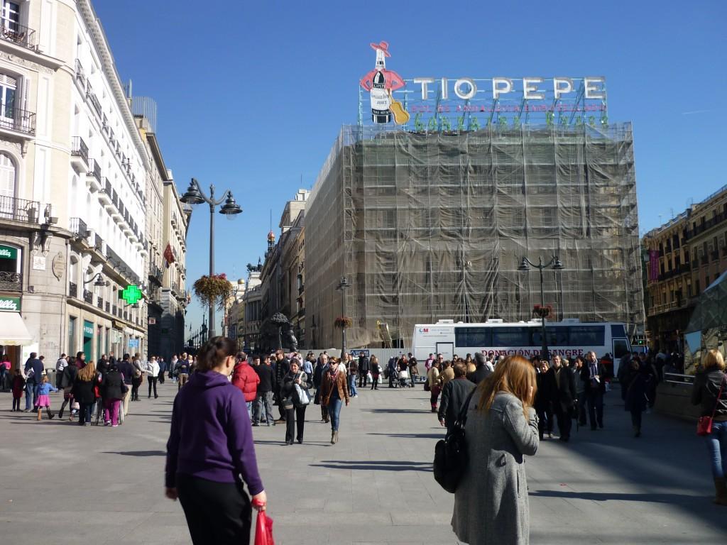 Tio Pepe Werbung am Puerta del Sol