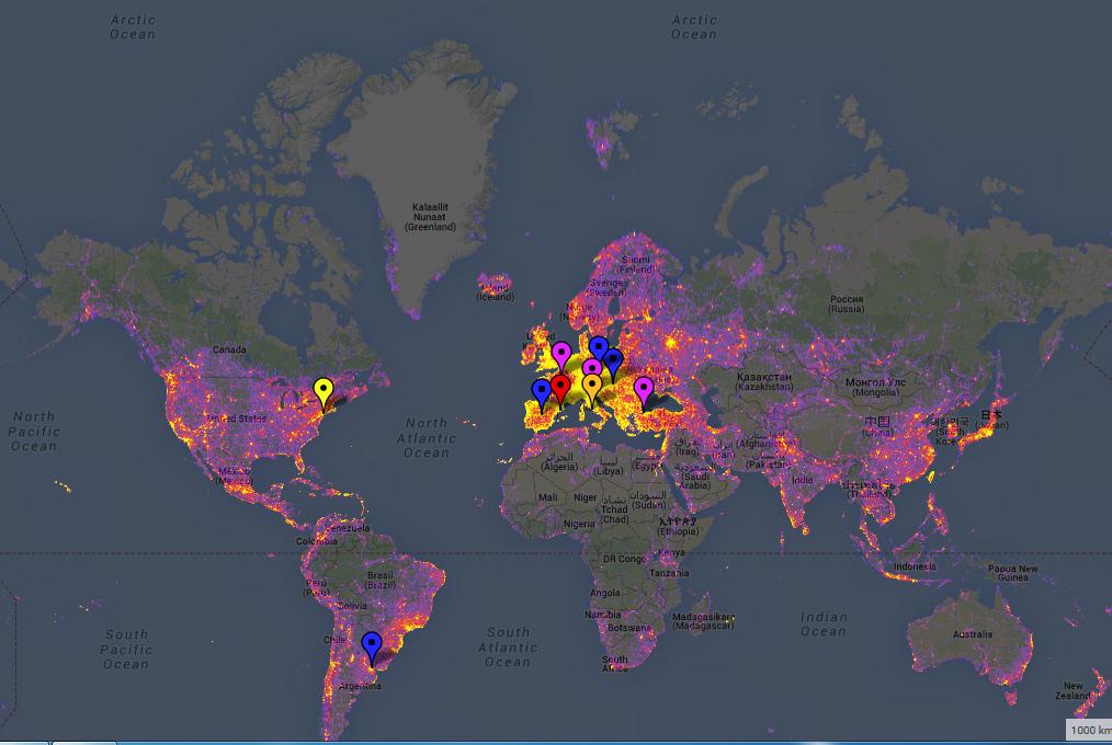 fotografie weltweit heatmap